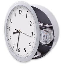 Bed Bath And Beyond Decorative Wall Clocks by Amazon Com Meridian Point Wall Clock With Hidden Safe Home U0026 Kitchen