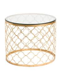 Destinations By Regina Andrew Lamps by Shoptagr Glass Top Gold Leaf Side Table By Destinations By