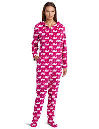 amazon com casual moments women u0027s one piece footed pajama clothing