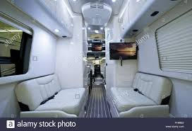 Luxury Class B Motorhome Elegant And Modern Light RV Interior Recreational Vehicle