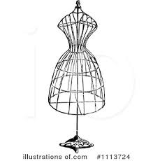 Vintage Clipart Fashion Design 1