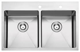 Overmount Double Kitchen Sink by Overmount Stainless Steel 2 Hole Kitchen Sink Contemporary