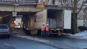 PHOTOS: Another Truck Gets Stuck Under Spokane Overpass | News | Khq.com