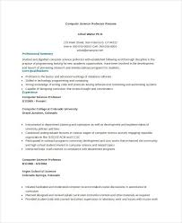 Computer Science Undergraduate Resume Best Of Puter Professor Example