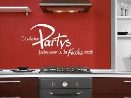 wandtattoo die besten partys finden immer in der küche statt