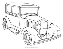 Police Car Coloring Pages Games Cars Free Printable Classic Old Medium Size