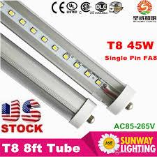 8ft led light single pin t8 fa8 2 4m led lights 45w