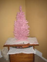 Retro Christmas Trees One White One Pink And Starburst Wrapping