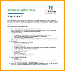 School Emergency Action Plan Template Safety In