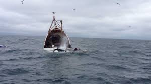 Deadliest Catch Boat Sinks by Incredible Video Prawn Trawler Sinks In Cold Irish Sea Youtube