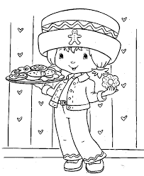 Strawberry Shortcake Coloring Page Cookies