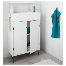 lillången silverån wash basin cabinet with 2 doors white 60x27x94