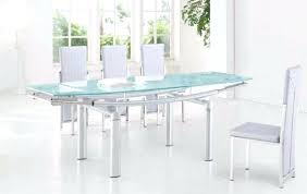 Expandable Glass Dining Room Tables Extendable Table Throughout Image Set Dinin