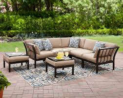 Outsunny Patio Furniture Assembly Instructions by Mainstays Ragan Meadow Ii 7 Piece Outdoor Sectional Sofa Seats 5