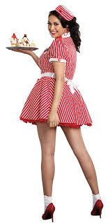Plus Size Womens Retro Diner Doll Costume