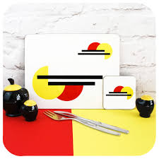 100 Bauhaus Style Placemats Set Of 6