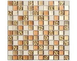 mosaik glas stein gold braun creme