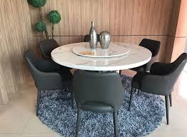 Make Your Kitchen More Attractive With A Natural Marble Dining Table 6 Comfy Chairs At RM1999