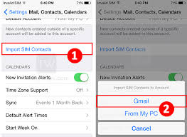 Transfer SIM contacts from iPhone to Gmail Account Google iOS