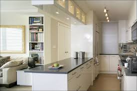 kitchen track lighting glossy white cabinet in modern small