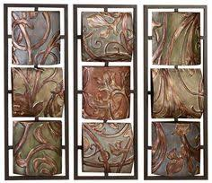 Tuscan Decorative Wall Tile by Tuscan Metal Hanging Wall Plaques Colorful Tiles Metals Walls