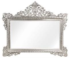 casa padrino barock wandspiegel silber 190 x h 155 cm wohnzimmer spiegel im barockstil