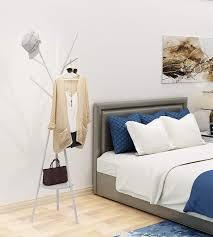 graue home like kleiderablage garderobenständer mit 9 haken