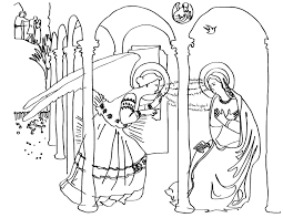 Fra Angelico The Annunciation Here Is A Coloring Sheet