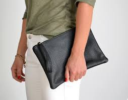 leather clutch bag leather pouch ipad case italian
