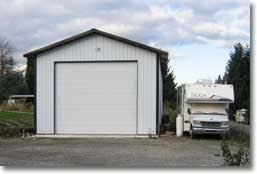 Custom RV Motorhome Pole Barn Garages