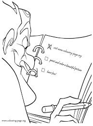 Bowler Hat Guy Reading His Plans Book Coloring Page