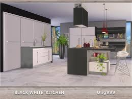 Ung999s Black White Kitchen
