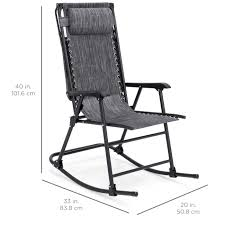 Best Choice Products Outdoor Folding Zero Gravity Rocking Chair W/  Attachable Sunshade Canopy, Headrest - Gray Timber Ridge Rocking Chair Folding Padded Patio Lawn Recling Camping With Armrest Side Storage Bag Supports 300lbs Gci Outdoor Freestyle Rocker Mesh Antique Genoa In Black Colour By Parin Costway Porch Zero Gravity Fniture Sunshade Canopy Beige Festival Brown Metal Doydendavis Red Sophia And William Table With Small Square End Tables Bluegrey Midcentury Modern Costa Rican Leather 2019 New Products Lounge Seat From Newlife2016dh 6671 Dhgatecom Roadtrip