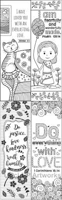 8 Printable Bible Verse Coloring Bookmarks For Kids Scripture Camps