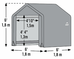 shelterlogic 6x6x6 shed in a box fabric shed kit 70401