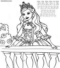 Barbie Princess Charm School Coloring For Girls