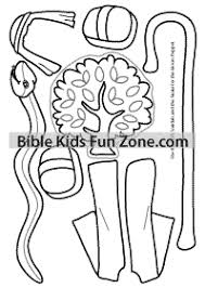 Moses Staff Snake Sandals Coloring Page To Use With Puppet Craft