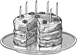Vintage Birthday Cake Image
