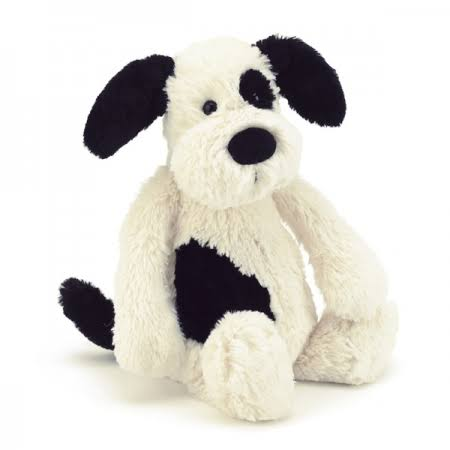 Jellycat Bashful Puppy - Black & Cream