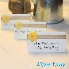 Wedding Place Cards Calligraphy Rehearsal Dinner Rustic Foldover Tent Escort Card Name Tag Country Flowers And Burlap