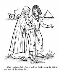 Joseph Bible Story Coloring Page Coat Of Many Colors Father Jacob And Family Move Into Egypt