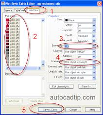 Step 5 Edit Plot Style In AutoCAD