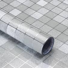 wasserdicht mosaik fliesenaufkleber wandaufkleber küche bad fliesenfolie 45cm 5m qingshop