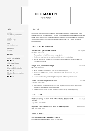 Voice Actor Resume Templates 2019 (Free Download) · Resume.io How To Write A Cover Letter Get The Job 5 Reallife Resume Formats Find Best Format Or Outline For You Unique Writing Address Leave Latter Can Start Writing Assistant Store Manager Resume By Good Application What Makes Sample An Experienced Computer Programmer Fiddler Pre Written Agenda Voice Actor Mplates 2019 Free Download Resumeio Cstruction Example Tips Genius Career Center Usc Letter Judge Professional