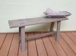 details zu holzbank 100cm teak massivholz retro beistelltisch unikat tisch stuhl bad bank