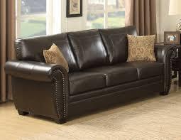 Bradington Young Sofa Construction by Ac Pacific Louis Stationary Leather Sofa U0026 Reviews Wayfair