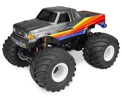 100 Ford Monster Truck JConcepts 1989 F250 Body WRacerback Clear