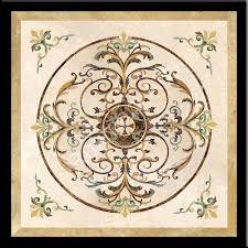 Marble Inlay Flooring Designs
