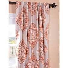 120 Inch Length Blackout Curtains by Henna Orange 50 X 96 Inch Blackout Curtain Half Price Drapes