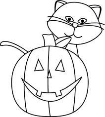 Cat black and white halloween cat clipart black and white festival collections